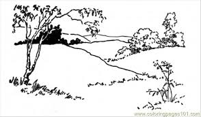 Free Printable Coloring Page Landscape Other Painting