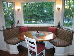 Modern Kitchen Booth Ideas by Booth Seating In Kitchen With Elegant Oval Wooden Table And Simple