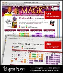 On The Web You Can Count Peoples Monitors Displaying Color Thank God We Make Good Use Of This When Show Calendar