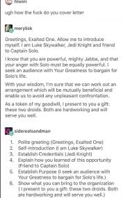 Luke Skywalker On How To Write A Cover Letter Boing Do You ... How To Write A Cover Letter For Resume 12 Job Wning Including Salary Requirements Sample Service Example Of Requirement In Resume Examples W Salumguilherme Luke Skywalker On Boing Do You Legal Assistant With New 31 Inspirational Stating To Include History On 11 Steps Floatingcityorg 10 With Samples Writing The Personal Essay Migration And Identity Esol