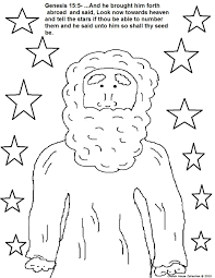 Colouring Page Of Descendants Like Stars From Churchhousecollection Resources Abraham20descendents20like20stars20coloring20page