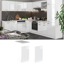 vicco geschirrspülerblende 45 cm weiß hochglanz küche küchenzeile r line mit arbeitsplatte