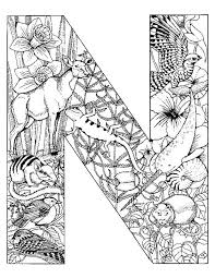 Alphabet Animal Coloring Pages N