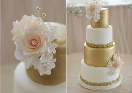 Blush And Gold Wedding Cake By Sugarbelle Cakes CA