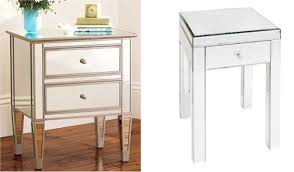 furniture mirrored bedside tables mirrored side table