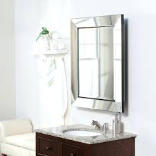 Home Depot Recessed Medicine Cabinets With Mirrors by Frameless Mirrored Medicine Cabinet Recessed Beveled Mirror