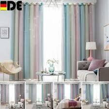 details zu sterne vorhang verdunkelungsvorhänge bunte doppelschicht für kinder schlafzimmer