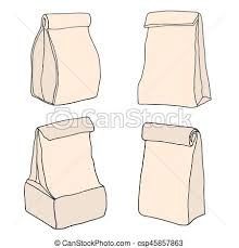 Brown Paper Lunch Bags Food Bags Collection Food Delivery Packages