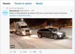 Tesla Model X Pulls Semi Truck Through Snow. Watch The Video | Fortune Updated No Place Like Home More Wtertrucking Photos So I Got Stuck Today Truck In Snow Stock Photos Images Multiple Cars Semitruck Stuck In Snow On The Berkley Bridge Watch This 47l Dodge Dakota V8 Rcues Oil Tanker Semi Offroad Deep Toyota Tundra Hard Ford Raptor Helps Tillicum Beach Pingcampers Blog Sunshine Coast Outdoor Reports December 2007 Trucks Youtube Southie Residents Dig Out City Truck Lvadosierracom Donuts Blizzard Uncategorized Snowdrift Photo Royalty Free 7552288 Shutterstock