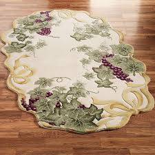 ribbon and grapes oval area rugs