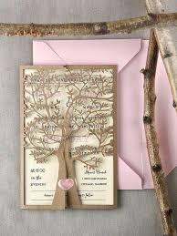 Custom Rustic Wedding Invitations Listing Invitation Laser Cut Tree Pink