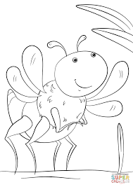 Click The Cartoon Insect Coloring Pages