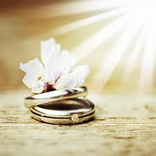 Download Wedding Rings Close Up In Rustic Style Stock Image