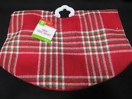 Image Is Loading Red Plaid Mini 18 034 Christmas Tree Skirt