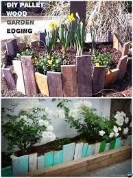 Scrap Wood Garden Bed Edging
