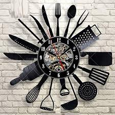 mrzy besteck wanduhr modernes design löffel gabel uhr küche