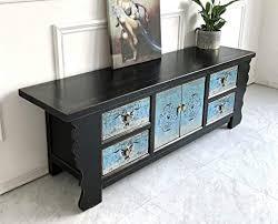vintage tv kommode lowboard shabby chic sideboard schwarz