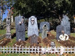 Halloween Cemetery Fence Ideas by Halloween Graveyard Props