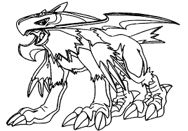 Halsemon Digimon Adventure Coloring Pages From Coloringpages