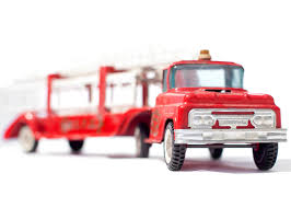 100 Toy Fire Truck Vintage Red Hook And Ladder Facing Forward Right