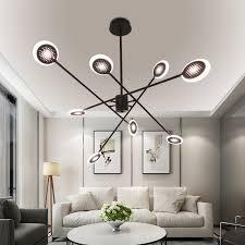 led hängeleuchte modern ring design in schwarz für schlafzimmer
