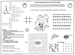 Pizza Kids Coloring Menu Placemats Back