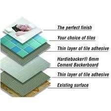 Hardie Tile Backer Board Fire Rating by Crown Tiles Hardiebacker 250 Cement Board 6mm Crown Tiles