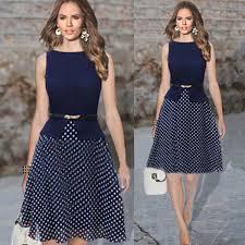 modele de robe de bureau chiffon office dress 2015 brand polka dot dress a line