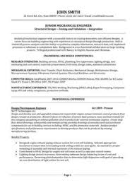 Resume Format For Mechanical Engineer Professional Samples Engineering Template 5 Free Word Pdf