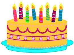 Orange clipart birthday cake 2
