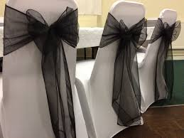 White Chair Covers With Black Organza Sashes At A Swansea ... Chair Covers For Weddings Revolution Fairy Angels Childrens Parties 160gsm White Stretch Spandex Banquet Cover With Foot Pockets The Merchant Hotel Wedding Steel Faux Silk Linens Ivory Wedddrapingtrimcastlehotelco Meathireland Twinejute Wrapped A Few Times Around The Chair Covers And Amazoncom Fairy 9 Piecesset Tablecloths With Tj Memories Wedding Table Setting Ideas Au Ship Sofa Seater Protector Washable Couch Slipcover Decor Wish Upon Party Ireland
