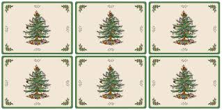 Balsam Christmas Trees Uk by Pimpernel Christmas Tree Placemats Set Of 6 Pimpernel Uk