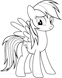 MLP Coloring Pages Rainbow Dash Human