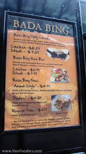 Bada Bing Menu | VanFoodies.com Bada Bing Buffalo On Twitter If You Havent Seen Our Food Truck Or Yummy Food Truck Group Home Facebook Bings Cheesteak And The Big Pete Spdie Solutions Caseys Pizza Wiki Fandom Powered By Wikia Image 23019466gif 8 Must Find Dc Trucks Upout Blog Company Rolls With Rise Of The Retrofitted Championship Texas Dickeys Barbecue Pit News Grill Denver Alist Guide Images Collection Craigslist Google Search Mobile Love