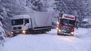 100 Trucks In Snow Winter Ticker About 170 Trucks Block Federal Highway Manchikoni