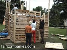 diy recycled pallet house with ikea style assembly instructions