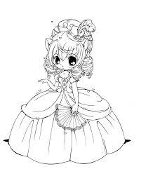 Princess Chibi Coloring Pages