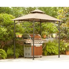 Patio Bistro Gas Grill Home Depot by Hampton Bay 8 Ft X 5 Ft Tiki Grill Gazebo L Gg019pst The Home