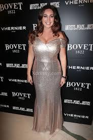 kelly brook elegant gold sequin trumpet long celebrity prom dress
