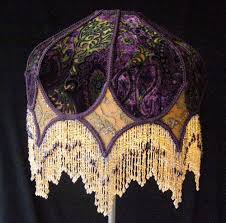 Antique Oil Lamps Ebay by Victorian Eclectic Lampshade With Beaded Fringe
