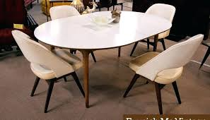 Oval Dining Table For 8 White Modern Inside Room