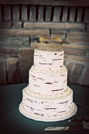 A Lovely Birch Bark Cake As Seen In Our Debut Issue Feature Ways To Have An Adirondack Wedding