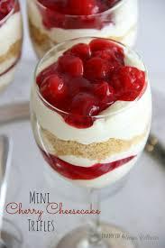 Mini Cherry Cheesecake Trifles