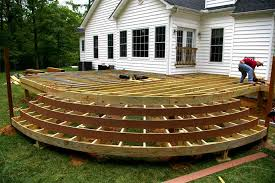 Stunning Deck Plans Photos by Backyard Deck Designs Plans Stupefy Front View Of A Large Low