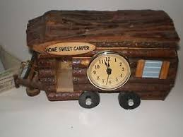 Image Is Loading New Wilcor Hand Made WOOD CAMPER Clock Rustic