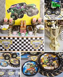 Monster Truck Party Ideas | Monster Truck Party At Birthday In A Box Chic On A Shoestring Decorating Monster Jam Birthday Party Nestling Truck Reveal Around My Family Table Birthdayexpresscom Monster Jam Party Favors Pinterest Real Parties Modern Hostess Favor Tags Boy Ideas At In Box Home Decor Truck Decorations Cre8tive Designs Inc Its Fun 4 Me 5th