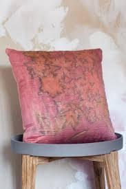 Natural Pillow Cover 20x 20 Handmade Wool Silk Blend Eco Printed Cushion