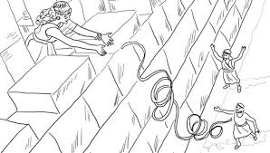 Rahab Coloring Page Helps The Spies Free Printable