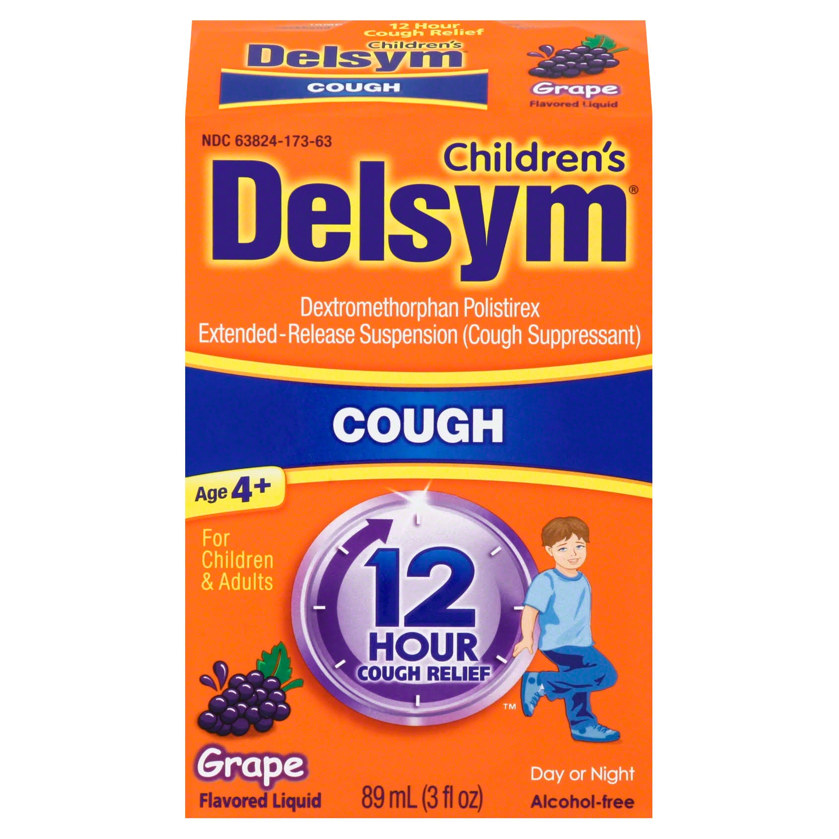 Delsym Cough Suppressant - Grape, 3oz