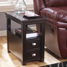 Wood End Table With Lamp Attached by Table Narrow Chairside Table Narrow Side Tables For Living Room